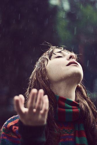 welcoming rain